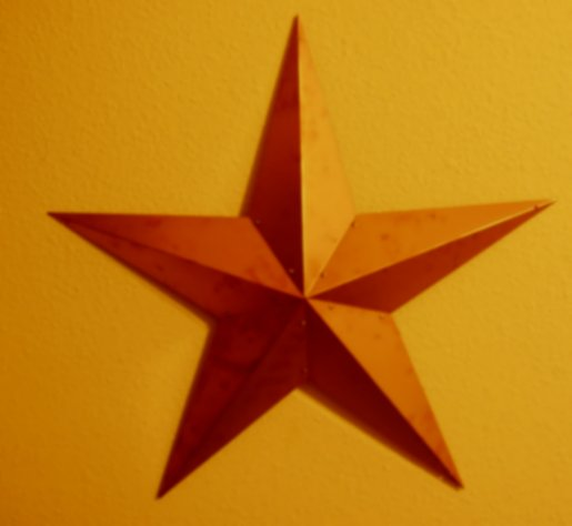 Texas 3d Star Copper Star Barn Star