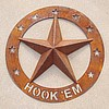 "3D Star Flat Ring 30"" dia Hook Em"
