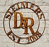 "Double Ring Sign for D&R Ranch 36"" diameter"