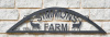 Custom 5ft wide arched ranch farm sign