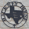 "24"" Double Ring Texas Love lives here Sign painted black"