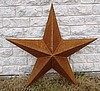 "36"" dia. Texas 3d Barn Star with no ring"