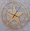 "30"" Clock with Texas Star in the center, black paint, price includes shipping"