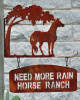 Custom Horse sign bracket and sign