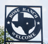 4ft x 10ft Ranch sign framed with square tubing