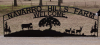 Farm Sign with metal art gate