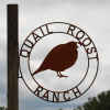 Side mount Double Ring sign for Quail Roost Ranch
