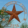 Red Horse Ranch Sign Texas Star
