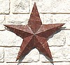 Barn Star made from old corrugated barn tin
