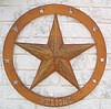 "3d Star on huge 40"" Flat Ring Personalized"