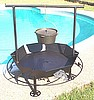 "36"" Wildlife Firepit with Dutch Oven Rack"