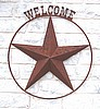 "3D Star 30"" WELCOME above ring"