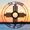 Custom Zia Farms sign (New Mexico state flag)