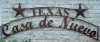 Decorative outdoors Texas Star house sign