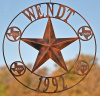 Custom Texas Star with family name and kid's names