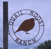 Quail Roost Ranch Rustic Metal Art side mounting