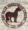 "Equestrian Center 36"" double ring ranch sign"