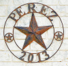 Rustic Texas Barn Star with large text